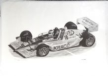 LOLA 1991 INDYCAR KRACO Bobby Rahal . Print by D GRAY signed and numbered